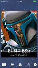 Topps Star Wars Digital Card Trader Jango Fett/Mace Windu Reflections Insert