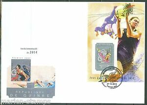 GUINEA 2014 COMMONWEALTH GAMES S/S FIRST DAY COVER
