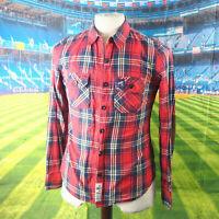 Superdry classic Lumberjack Twill red cotton Shirt. UK women's size Medium