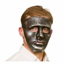 Adults Robot Mask Antique Silver Metal Effect Halloween Fancy Dress Droid