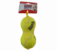 KONG Air Dog Squeaker Tennis Balls LARGE PACK OF 2 - 80mm Diameter Airdog