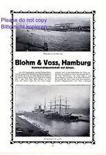 Blohm & Voss Hamburg XXL Reklame 1914 Schiffsbau Dampfer Vaterland Leviathan +