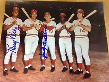 Big Red Machine Cincinnati Reds Big 5 8x10 photo Autographed Perez Anderson