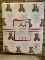 New Pottery Barn Kids Holiday Christmas Teddy Bear Organic Queen Size Sheet Set