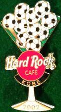 Hard Rock Cafe KOBE 2002 World Cup Soccer MARTINI GLASS PIN 10 Balls HRC #18117
