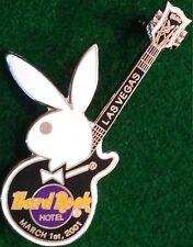 Hard Rock Hotel LAS VEGAS 2001 PLAYBOY BUNNY Guitar PIN - HRC #31869 Clasp Back