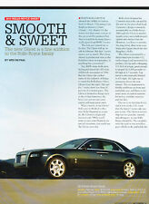 2010 Rolls Royce Ghost -  Classic Car Original Print Article J92