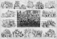 YALE HARVARD COLLEGE CHAMPIONSHIP FOOTBALL GAME OF 1887 SPORTS YALE TEAM MEMBERS