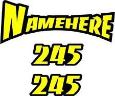 MX HELMET NAME DECALS rm rmz 125 250 450 rmz250 rmz450 thor fox hjc race team