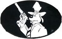 Gemälde - Sam & Max - SAM - Porträt handgemalt Leinwand Malerei Pop Art Hund