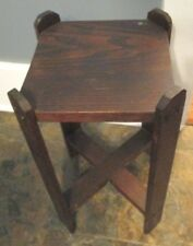 Antique Folk Art Mission Style STAMPED FRANK BAKER Plant Stand End Table