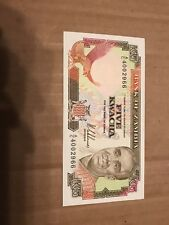 Bank Of Zambia Five Kwacha Bank Note 5 Kwacha Nice Look