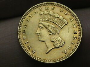 1884 $1 Gold Liberty Head One Dollar Coin- VF/XF Details
