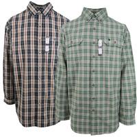 Carhartt Men's Green/Beige Plaid L/S Woven Shirt XL-3XLT (Retail $45)