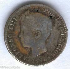 Alfonso XIII 50 Centimos 1896 Tupe @ Usada @