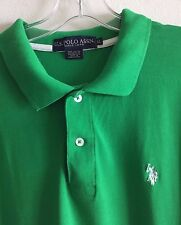 Polo Knit Golf Shirt US Polo Association Green Men's Extra Large