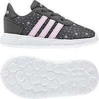 Adidas Girls Shoes Running Lite Race CLN Kids Training Infants Trainers F35651