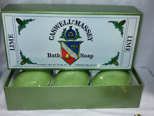 caswell massey large  lime soap set