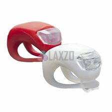 Bicycle bike cycle Front & Rear LED light Lamp Set silicone waterproof Red White