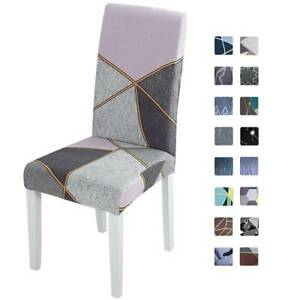 Geometric Stretch Dining Chair Seat Covers Party Slipcovers Home Decor