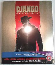 DJANGO UNCHAINED New Blu-Ray STEELBOOK Rare Region-All UK Import Tarantino 2012