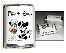 300 DISNEY MICKEY AND MINNIE MOUSE WEDDING CANDY WRAPPERS FAVORS personalized