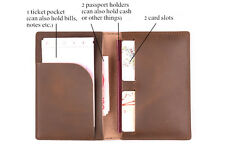 Genuine Leather Handmade Cover Wallet Travel Vintage Card Passport ID Holder