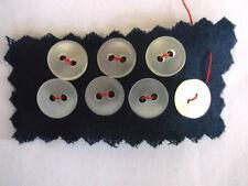 VINTAGE PLAIN MILKY-WHITE PLASTIC SHIRT BUTTONS 9mm