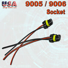 2x 9005 9006 Female Socket Wiring Harness Plug Connector Headlight Fog Light DRL