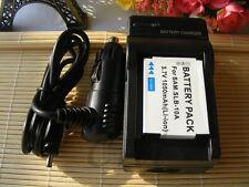 BATTERY + CHARGER FOR SAMSUNG SLB-10A DIGIMAX DIGITAL CAMERA SL102 SL202 SL420