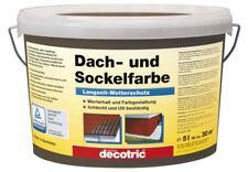 Decotric Dach- und Sockelfarbe - 5 l, anthrazit