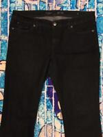 Y90 Womens The Limited Denim 678 Jeans Size 14 14R Dark Wash Blue Pants Flair