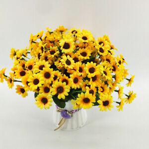 3Pcs Artificial Sunflower Silk Flower 22 Head Bouquet Wedding Home Party Decor