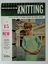 Vintage Modern Knitting Magazine July August 1963 Patterns For Machine Knitters