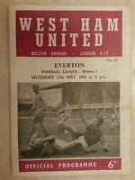 1967/68 Football League- WEST HAM UNITED v EVERTON - 11th May