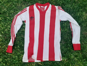 ORIGINAL VINTAGE SOCCER JERSEY ADIDAS - red and white - shirt