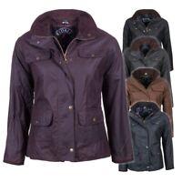 Ladies Waxed Cotton Country Jacket Women's Wax Coat Corduroy Trim Rydale