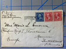 Augusta Maine to Germany 1897 Machine cancel on cover Washington Franklin combo