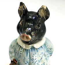Beatrix Potter PIG WIG Figurine F Warne Co Beswick England Vintage