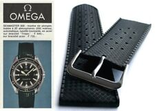 22mm Tropic type watch strap for Omega Seamaster. Silicone rubber dive band.