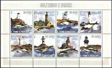 Mint stamps in miniature sheet Lighouses Dolphins 2006 Sao Tome & Principe avdpz