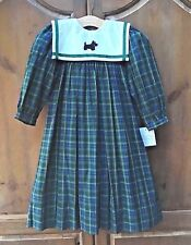 NWT Strasburg Boutique Classic Plaid Party Dress Removable Sailor Collar 5 w dog