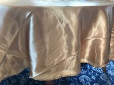 108in round Satin Table Cloth Cover Gold Champagne Tablecloth For Wedding
