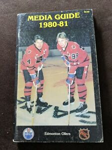 VINTAGE NHL 1980-81 EDMONTON OILERS  MEDIA PRESS GUIDE WAYNE GRETZKY Cover