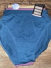 Bali 3-Pair Womens Hi-Cut Underwear Panties Stretch Nylon Microfiber (A) ~ 8/9