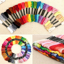 Lots 50 Multi Colors Cross Stitch Cotton Embroidery Thread Floss Sewing Skeins