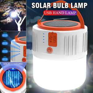 Lampe camping solaire télécommande LED Lampe de tente rechargeable USB