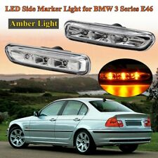2x LED Side Marker Light Turn Signal Lamp For BMW E46 3 Series 2 / 4 Door 98-01