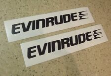 """Evinrude Vintage Outboard Motor Decals 2-PAK 18"""" FREE SHIP + FREE Fish Decal"""