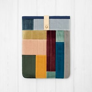 Quilted Velour Unique Patchwork Padded Case Cover Sleeve iPad Pro Air Mini 2021